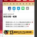 写真: Vivaldi WEBパネル:朝日新聞iのワールドカップ特集 - 1