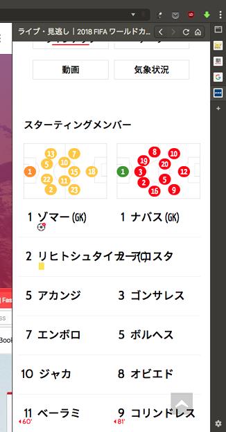 Vivaldi WEBパネル:NHKワールドカップのライブ配信ページ - 4(ラインナップ)