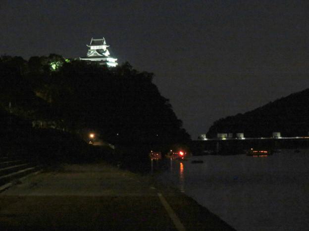 木曽川沿いから見た鵜飼い No - 62