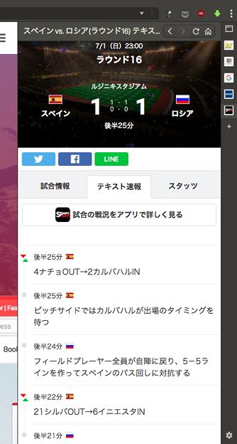 Vivaldi WEBパネル:Sportsnaviのワールドカップ特集 - 6(テキスト速報)