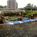 桃花台線の旧車両基地進入高架撤去工事(2018年7月4日) - 1:高架接続部分の撤去開始