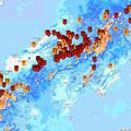写真: 国交省「川の防災情報」英語モバイル版で見た西日本の大雨(2018年7月6日)- 7(22時23分時点)