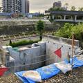 写真: 桃花台線の旧車両基地進入高架撤去工事(2018年7月9日) - 1