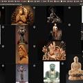 写真: Vivaldi 1.16.1230.3:タブタイリングで仏像の写真をまとめて表示 - 1