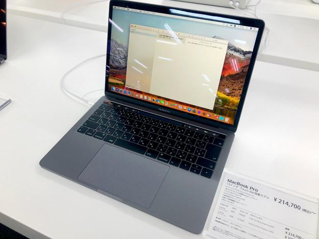Macbook Pro 2018 No - 1:画面の見やすさが改善されてたディスプレイとTouchBar