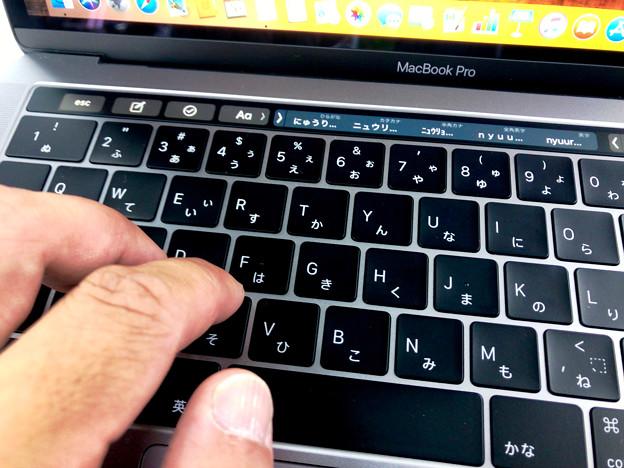 Macbook Pro 2018 No - 2:入力時の音は改善されてたキーボード