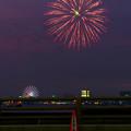 潮見埠頭に架かる橋の上から見た名古屋みなと祭の花火 - 4
