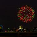 潮見埠頭に架かる橋の上から見た名古屋みなと祭の花火 - 13