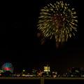 潮見埠頭に架かる橋の上から見た名古屋みなと祭の花火 - 27
