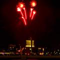 潮見埠頭に架かる橋の上から見た名古屋みなと祭の花火 - 41