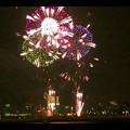 潮見埠頭に架かる橋の上から見た名古屋みなと祭の花火 - 48