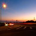 写真: SX730HSで撮影した車のライトの残像(花火モードを使用) - 2