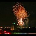 国道19号沿いから見た春日井市民納涼まつり(2018年)の花火 - 21:フィナーレ