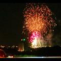 国道19号沿いから見た春日井市民納涼まつり(2018年)の花火 - 26:フィナーレ