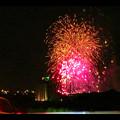 国道19号沿いから見た春日井市民納涼まつり(2018年)の花火 - 29:フィナーレ