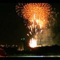 国道19号沿いから見た春日井市民納涼まつり(2018年)の花火 - 33:フィナーレ