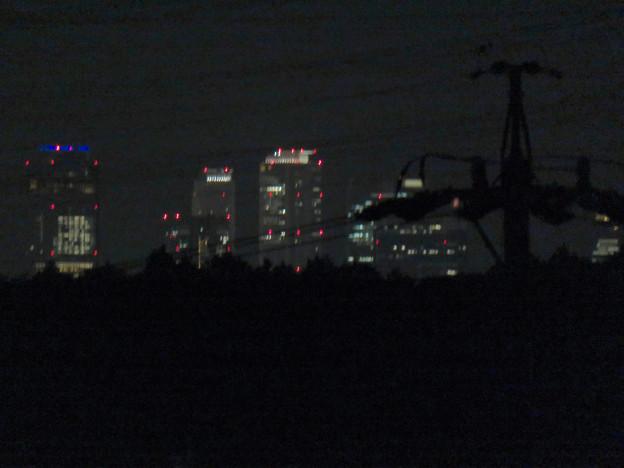 桃花台ニュータウンから見た名駅ビル群