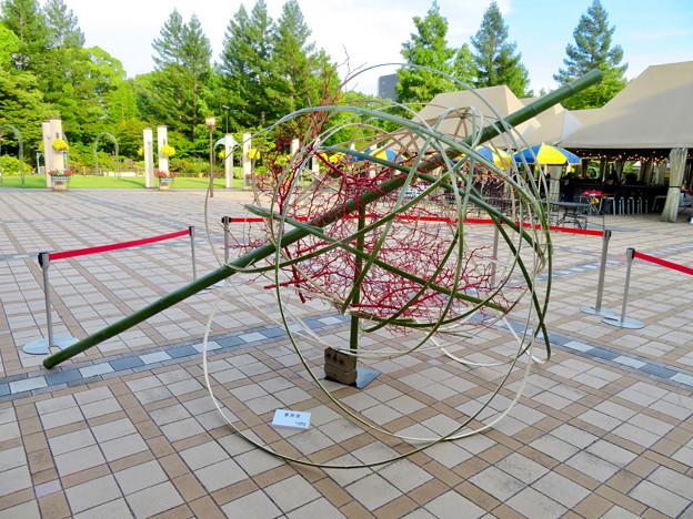 久屋庭園「フラリエ」:竹を使ったオブジェ
