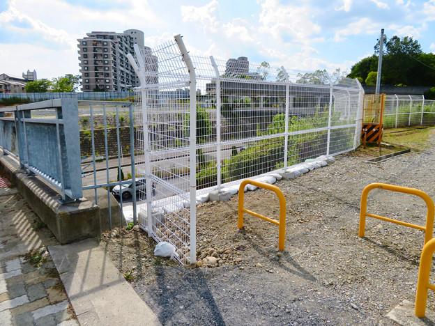 桃花台線の旧車両基地進入高架撤去工事(2018年8月11日) - 5