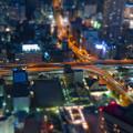 SX730HS ミニチュアライズ:スカイプロムナードから見た夜景 - 6(名古屋高速 新洲崎JCT)