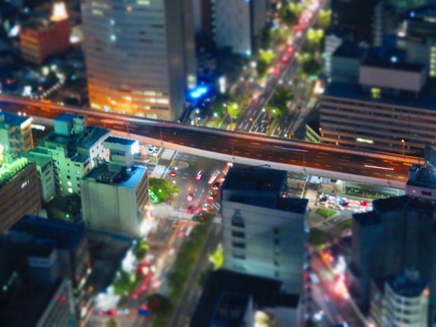 SX730HS ミニチュアライズ:スカイプロムナードから見た夜景 - 7(名古屋高速)