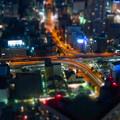 SX730HS ミニチュアライズ:スカイプロムナードから見た夜景 - 9(名古屋高速 新洲崎JCT)