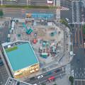 スカイプロムナードから見た景色 - 3:名駅通交差点沿いの工事現場