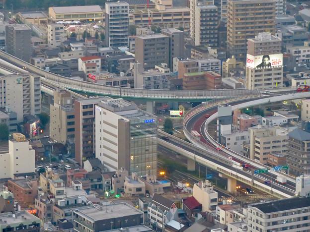 スカイプロムナードから見た景色 - 13:名古屋高速の明道町JCT