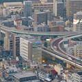 写真: スカイプロムナードから見た景色 - 13:名古屋高速の明道町JCT