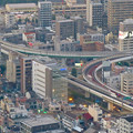 Photos: スカイプロムナードから見た景色 - 13:名古屋高速の明道町JCT