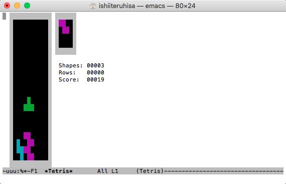 macOS High Sierra:ターミナルでテトリス!? - 2