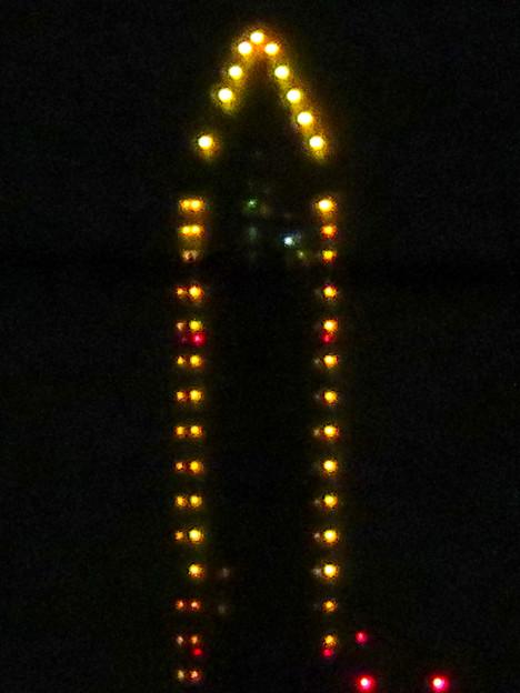 空気が澄んでてくっきり見えた東山スカイタワーのイルミネーション - 3