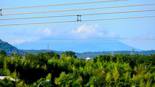 落合公園 水の塔から見た景色 - 2:雲がかかってた御嶽山