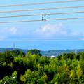 写真: 落合公園 水の塔から見た景色 - 2:雲がかかってた御嶽山
