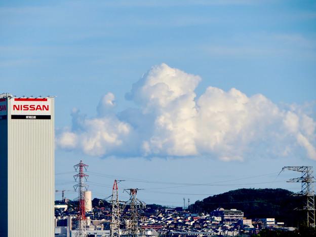 落合公園 水の塔から見た景色 - 23:夏らしい雲