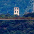 写真: 落合公園 水の塔から見た景色 - 28:頭頂部だけ見えた謎の建物