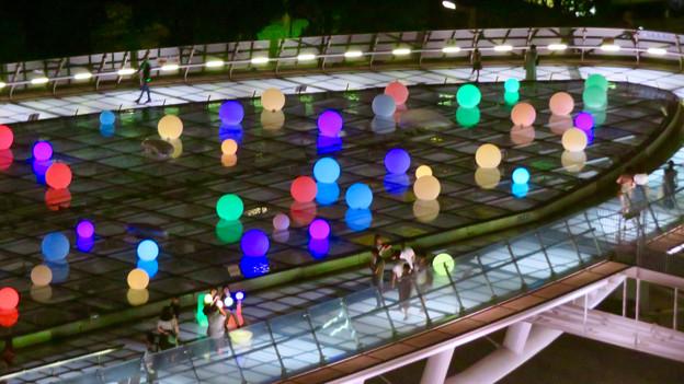 オアシス21:夏の期間限定イルミネーション「Twinkle Night」 - 7(愛知芸術文化センターから撮影)