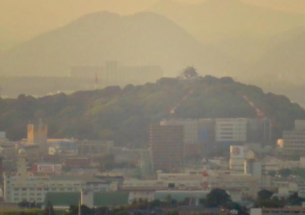 東山スカイタワーから見た景色:小牧城と建設中の小牧市民病院 - 1