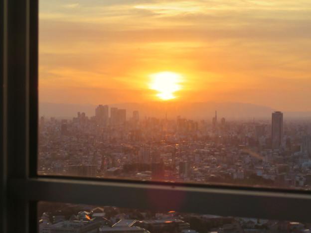 東山スカイタワーから見た景色:夕日