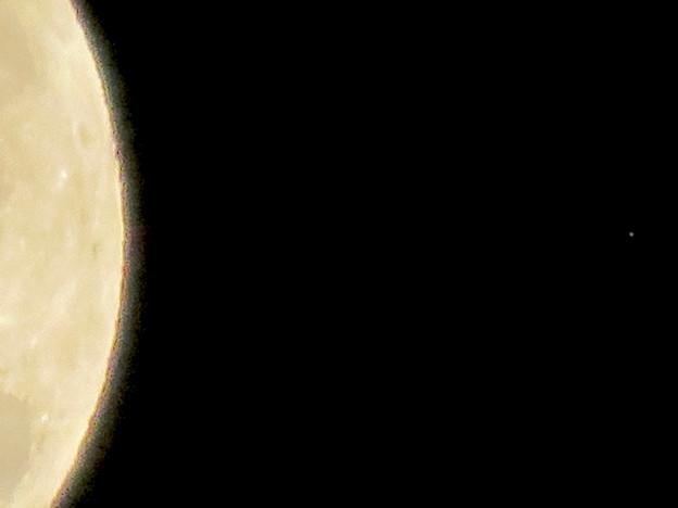 アップにしたら月の向こう側にかすかに見えた…星? - 3