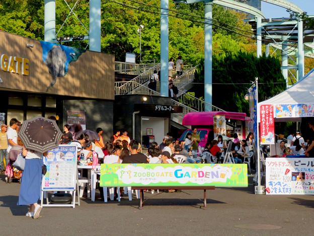 東山動植物園 2018年8月 No - 1:正門近くに出来てたビアガーデン