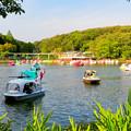 写真: 東山動植物園 2018年8月 No - 33:沢山の人がボートに乗っていた上池