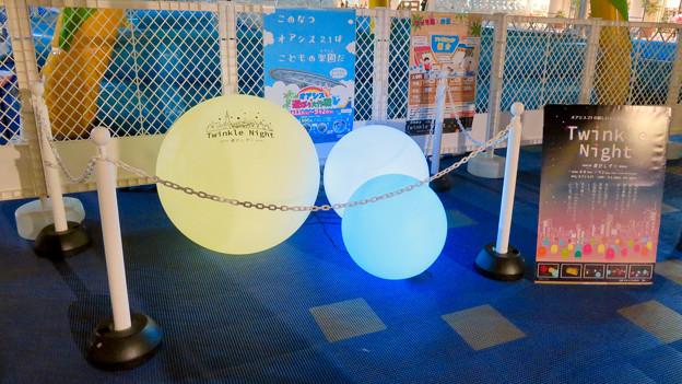 オアシス21:夏の期間限定イルミネーション「Twinkle Night」 - 16(PR用のボール型イルミネーション)
