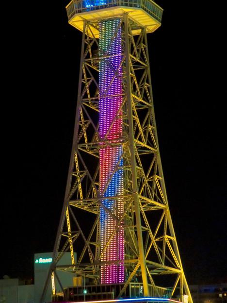 七色に輝く名古屋テレビ塔のイルミネーション - 2