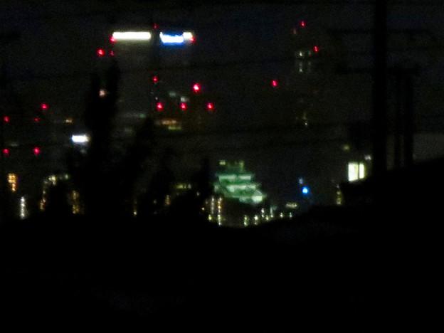 アピタ桃花台店の屋上から見えた名古屋城