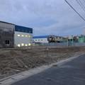 写真: すっかり更地になってた国道155号沿いの旧ガソリンスタンド跡地 - 1
