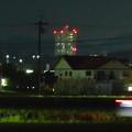 写真: 春日井市内の田んぼ沿いから見たスカイステージ33 - 2