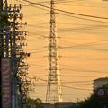 一瞬瀬戸デジタルタワーかと思った、夕焼けで輝く鉄塔 - 5