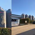Photos: Camera7で撮影した「くりの木ランチ」のタンクに描かれた豚 - 2