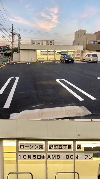 移転先工事中のローソン東野町5丁目店、10月5日にオープン! - 2